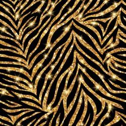 Stickers carrelage noir et or