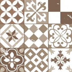 Stickers carrelage ciment marron clair
