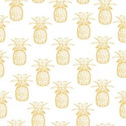 Stickers carrelage ananas