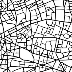 Stickers carrelage carte de ville