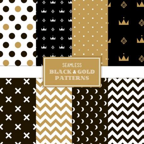 Stickers carrelage noir, or et marron
