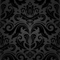 Stickers carrelage baroque noir