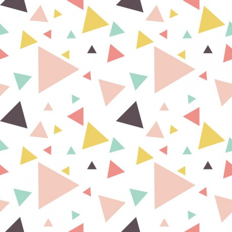 Stickers carrelage triangle pastel