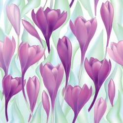 Stickers carrelage violet Lilas