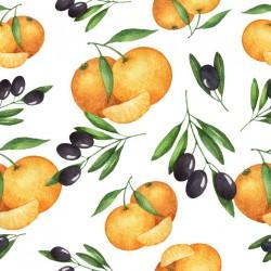 Stickers carrelage orange