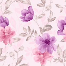 Stickers carrelage rose et violet
