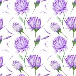 Stickers carrelage violet