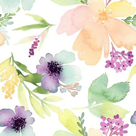 Stickers carrelage aquarelle
