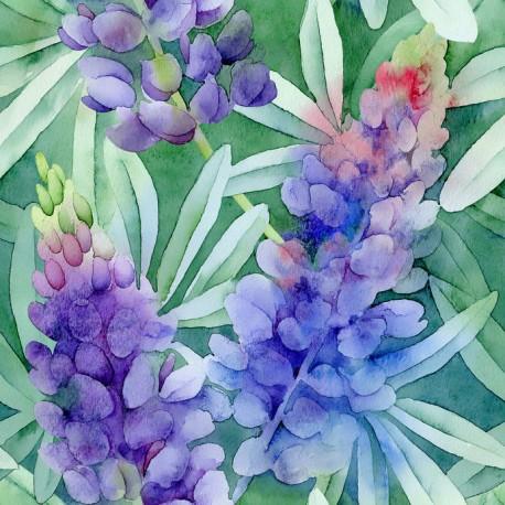 Stickers carrelage aquarelle violet