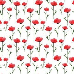 Stickers carrelage rouge Coquelicot