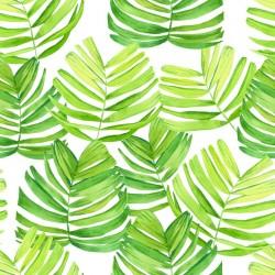 Stickers carrelage feuille verte
