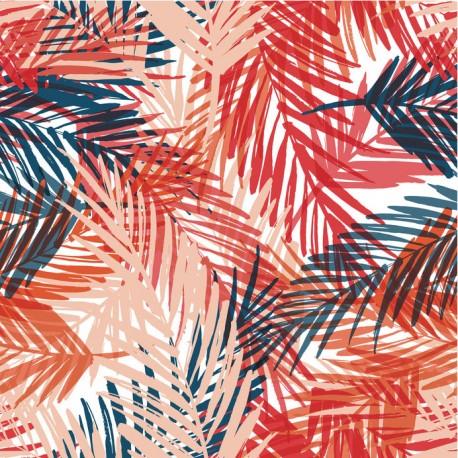 Stickers carrelage feuille de palmier