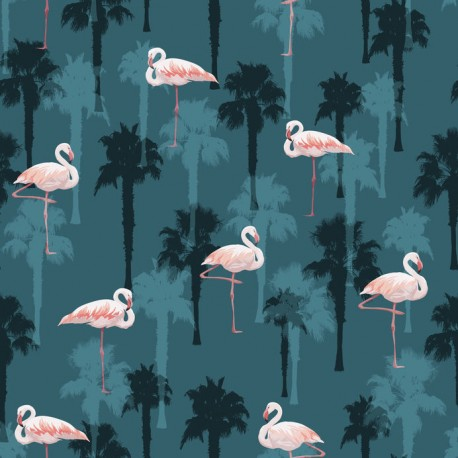 Stickers carrelage flamant rose