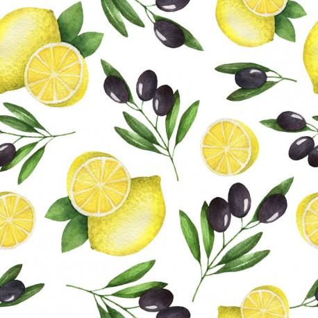 Stickers carrelage citron