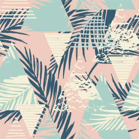 Stickers carrelage motif exotique