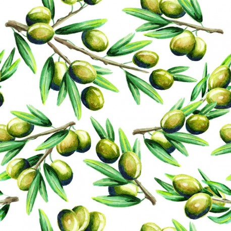 Stickers carrelage olive
