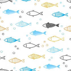 Stickers carrelage poisson