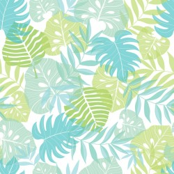 Stickers carrelage feuille tropicale verte