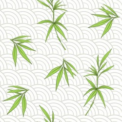 Stickers carrelage feuille de bambou