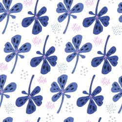 Stickers carrelage violet
