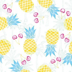Stickers carrelage ananas
