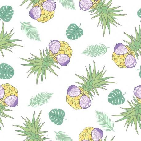 Stickers carrelage ananas lunette de soleil
