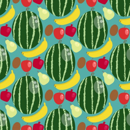 Stickers carrelage pastèque