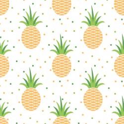 Stickers carrelage ananas jaune et vert