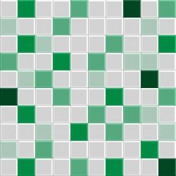 Stickers carrelage vert bouteille