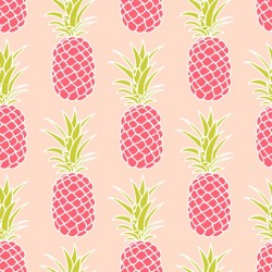 Stickers carrelage ananas rose