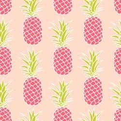 Stickers carrelage ananas rose