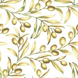 Stickers carrelage olive jaune