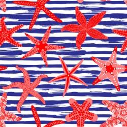 Stickers carrelage étoile de mer