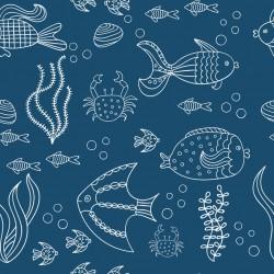 Stickers carrelage bleu foncé