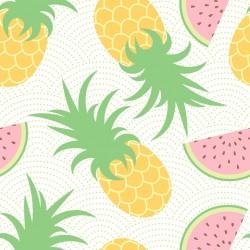 Stickers carrelage ananas et pastèque