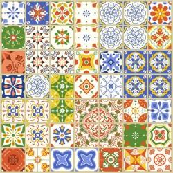 Stickers carrelage ciment coloré