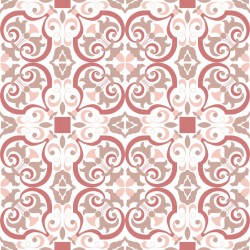 Stickers carrelage ciment rose