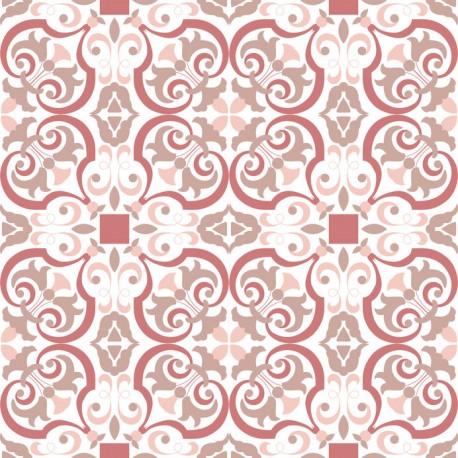 Stickers carrelage ciment rose