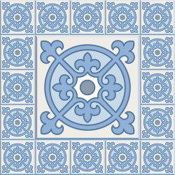 Stickers carrelage ciment bleu ciel