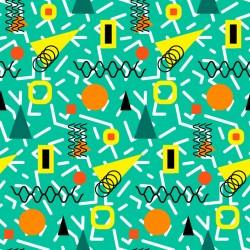 Stickers carrelage géométrique vert