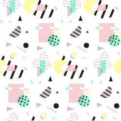 Stickers carrelage géométrique pastel