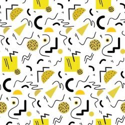Stickers carrelage géométrique jaune
