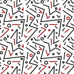 Stickers carrelage géométrique rouge et noir
