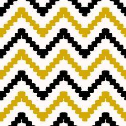 Stickers carrelage jaune et noir