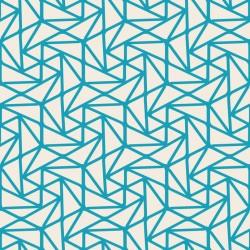 Stickers carrelage géométrique bleu