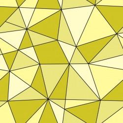 Stickers carrelage géométrique jaune fluo