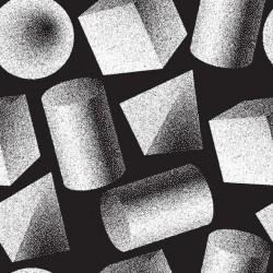 Stickers carrelage gris et noir