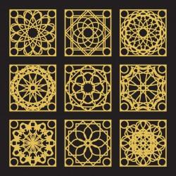 Stickers carrelage doré