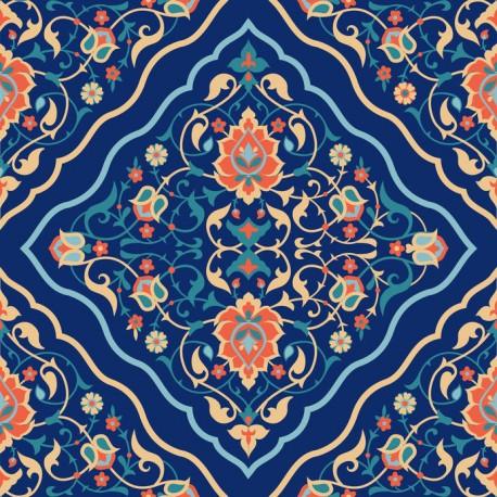 Stickers carrelage bleu