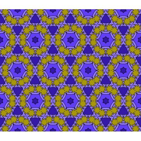 Stickers carrelage violet et jaune